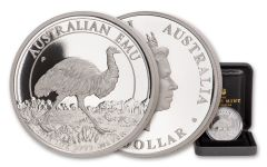2018 Australia $1 One-Ounce Silver Emu Proof