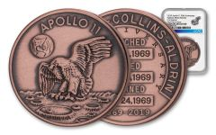 Apollo 11 Robbins Medal 1-oz Copper NGC Gem Unc - 50th Anniversary Commemorative