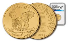 Apollo 11 Robbins Medal 1/2-oz Gold NGC Gem Proof Matte - 50th Anniversary Commemorative