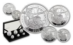 2019 Great Britain Silver Britannia 6-Piece Proof Set