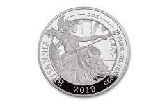 2019 Great Britain £10 5-oz Silver Britannia Proof
