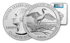 2018 Cumberland Island 5-oz Silver Quarter America the Beautiful NGC MS69 DPL First Releases