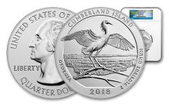 2018 Cumberland Island 5-oz Silver Quarter America the Beautiful NGC MS69 DPL Early Releases