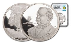 2019 Smithsonian 1-oz Silver Buffalo at the Castle NGC PF70UC
