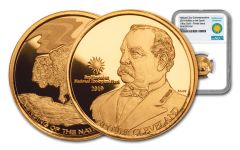 2019 Smithsonian 1/4-oz Gold Buffalo at the Castle NGC Gem Proof