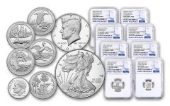 2018-S United States Mint Limited Edition Silver 8-Piece Set NGC PF69UC Early Releases