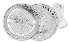 2019 Australia $1 1-oz Silver Kangaroo BU 25-Piece Roll