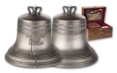 2018 Solomon Islands $10 4-oz Silver Liberty Bell Antiqued