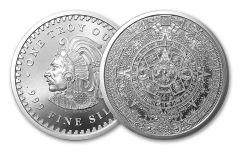 2018 Golden State Mint 1-oz Silver Aztec Calendar Round BU