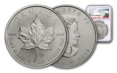 2019 Canada $5 1-oz Silver Maple Leaf NGC MS69 Early Releases -Exclusive Canada Label