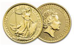 2019 Great Britain 100-Pound 1-oz Gold Britannia Uncirculated