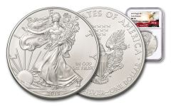 2019 $1 1-oz Silver American Eagle NGC MS70 Early Releases - Eagle Label