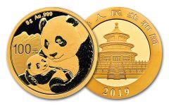 2019 China 8-Gram Gold Panda BU