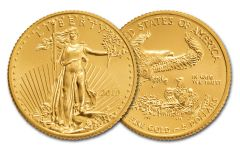2019 $5 1/10-oz Gold American Eagle BU