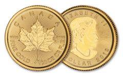 2019 Canada $1 1/20-oz Gold Maple Leaf BU