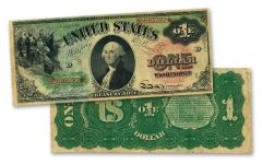 1869 $1 Legal Tender Rainbow Paper Currency Note VF