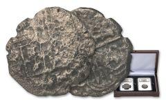 1556-1622 Spain Nuestra Señora Del Rosario Silver Reales 2-piece Set NGC Shipwreck Effect