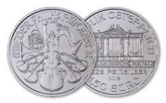 2019 Austria 1-oz Silver Philharmonic BU