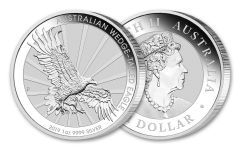 2019 Australia $1 1-oz Silver Wedge Tailed Eagle Uncirculated