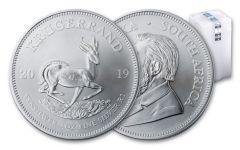 2019 South Africa 1-oz Silver Krugerrand BU 25-Piece Roll