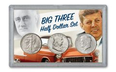 Big Three Silver Half Dollar 3-Piece BU Set