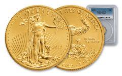 2019 $5 1/10-oz Gold Eagle PCGS MS70 First Strike