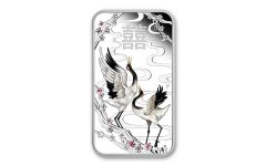 2019 Tuvalu $1 1-oz Silver Chinese Wedding Cranes Bar Proof