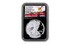 2019-W $1 1-oz Silver American Eagle Congratulations Proof NGC PF70UC First Day of Issue w/Black Core & Eagle Label
