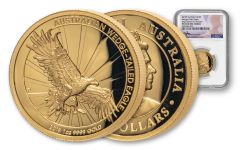 2019 Australia $100 1-oz Gold Wedge Tailed Eagle High NGC PF69UC First Releases Mercanti Signed