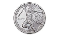 2019 1-oz Silver Warrior Series: Spartan BU
