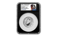 2019-P Apollo 11 50th Anniversary 5-oz Silver Dollar NGC PF70UC Early Releases - Black Core, Astronaut Scholarship Foundation Label