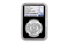 2019-P 2019-P Silver Dollar American Legion 100th Anniversary Commemorative NGC PF69UC First Releases - Black Core