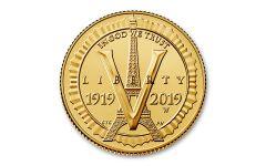 2019-W $5 Gold American Legion 100th Anniversary Commemorative BU