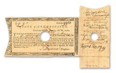 1780–1782 Connecticut Bond Continental Army VG-F