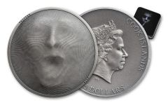 2019 Cook Islands $5 1-oz Silver Trapped High Relief Antiqued BU