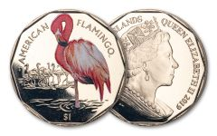 2019 British Virgin Islands $1 8 Gram Virenium American Flamingo Proof