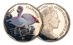 2019 British Virgin Islands $1 8 Gram Virenium James's Flamingo Proof