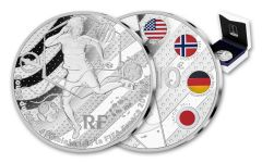 2019 France €10 Silver FIFA Women's World Cup Trick Play Proof