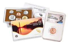 2019-W Lincoln Cent NGC PF69 RD UCAM First Day of Issue +2019-S United States Proof Set NGC Gem Proof First Day of Issue
