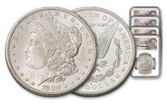 4PC 1880-1887 $1 MORGAN NGC MS64+ NY BANK HOARD
