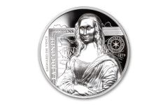 2019 France €20 1-oz Silver Masterpieces of the Museums: Mona Lisa High Relief Proof