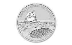 2019 Australia $1 1-oz Silver Moon Landing Apollo 11 50th Anniversary Uncirculated