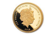 2019 New Zealand Gold Quarter Sovereign Proof