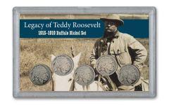1915-1919 Buffalo Nickel Legacy of Teddy Roosevelt 5-pc Set