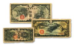 1939–1940 Japan Dragon MPC 3-Note Set
