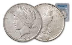 1922-D Silver Peace Dollar NGC/PCGS MS64