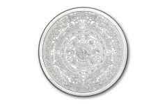 Golden State Mint 5-oz Silver Aztec Calendar Round BU