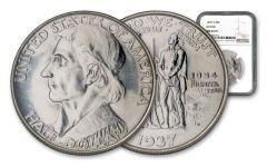 1937-S 50 Cents Daniel Boone Commemorative NGC MS63 PL