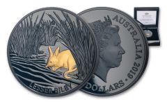 2019 Australia $5 1-oz Silver Echoes of Australian Fauna Lesser Bilby Nickel Plated Proof