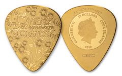 2019 Cook Islands $50 1/4-oz Gold Woodstock Pick Proof